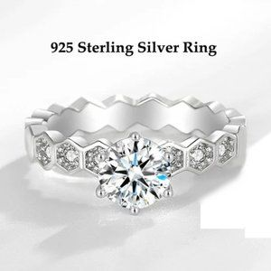 925 Sterling Silver AAA CZ Ring